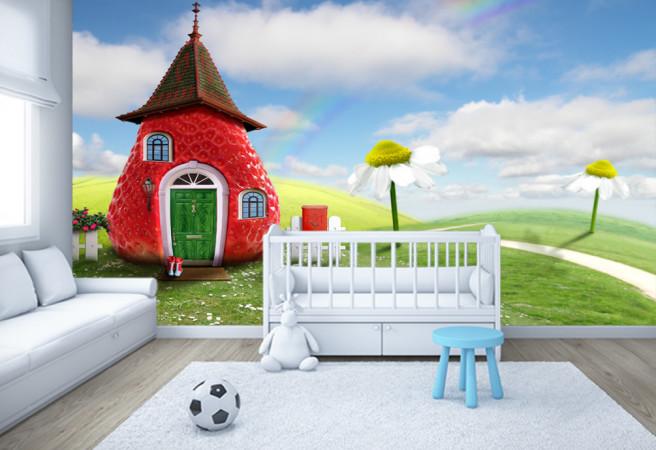 Фотообои Клубничный домик