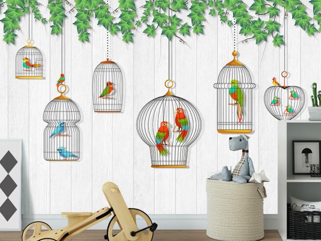 Птицы в клетках