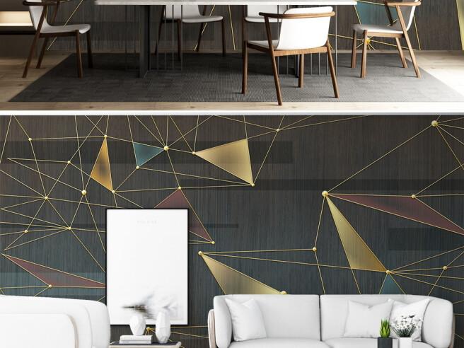Фотообои Треугольые проекции