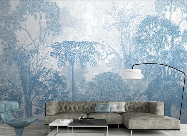 джунгли в голубых оттенках