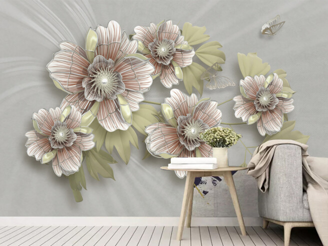Цветы с жемчугом