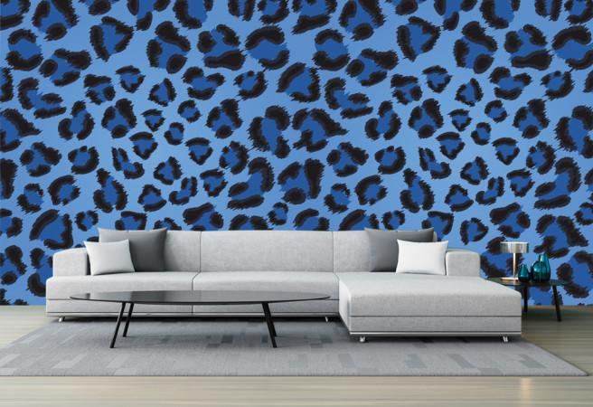 Фотообои фиолетовый леопард