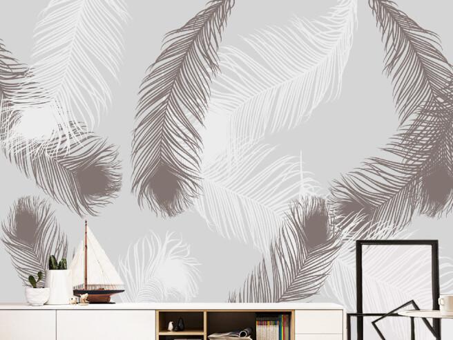 Черно-белые перья