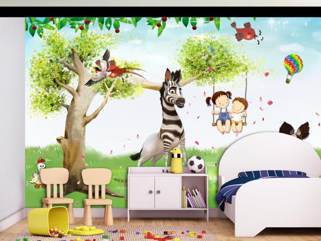 Зебра и дети