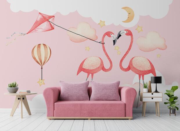 Фламинго и воздушный змей