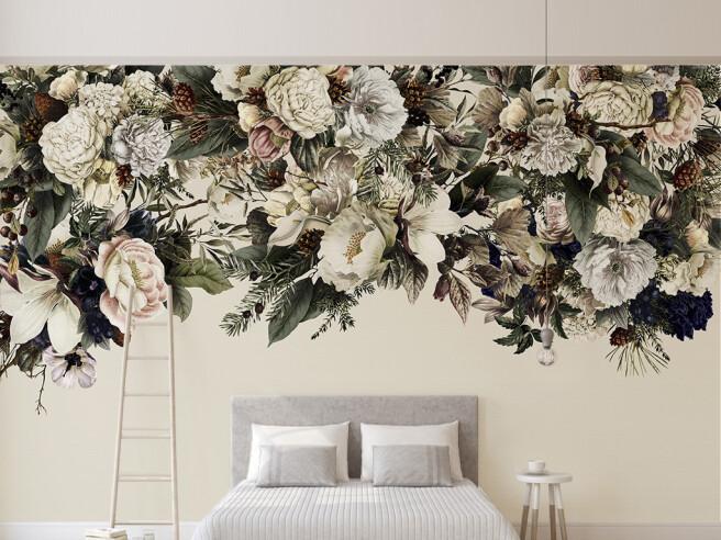 Фотообои Густые цветы