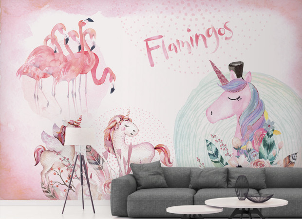 Единороги и розовые фламинго