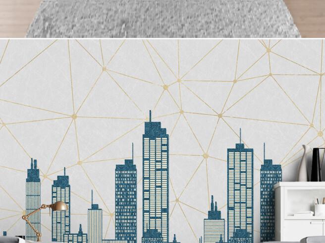 Город на геометрической текстуре
