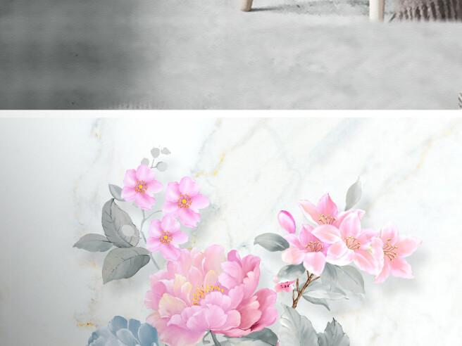 Фотообои Пионы и синичка