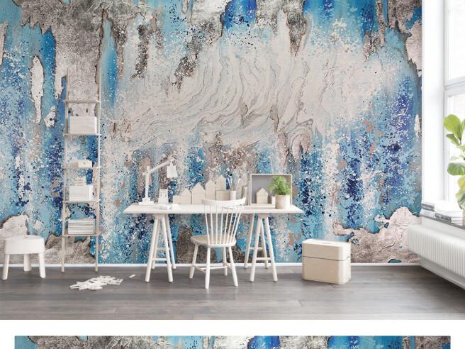 Фотообои Холодные краски на стене