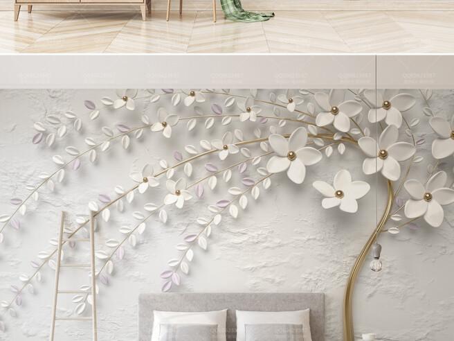 Фотообои Нежное белое дерево