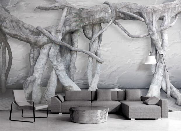 Переплетенные ветки деревьев