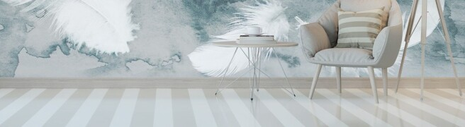 Фотообои Бледные перья