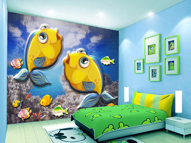 Фотообои Две желтые рыбки