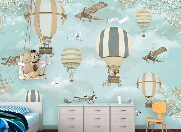 воздушные шары, самолеты
