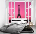Фотообои Эйфелева башня в розовом