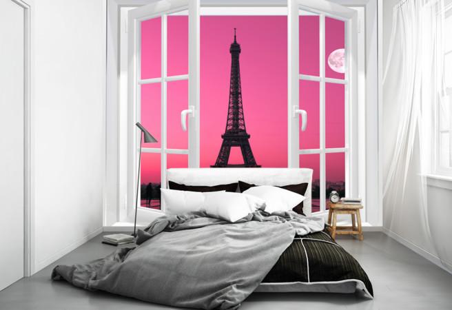 Эйфелева башня в розовом