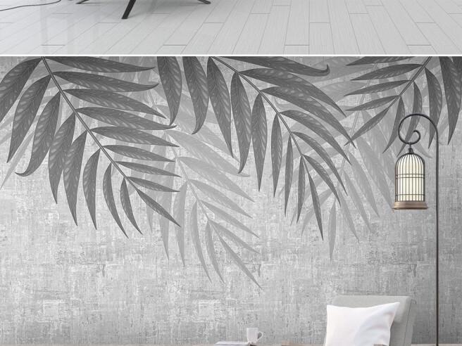 Металлические листья пальмы