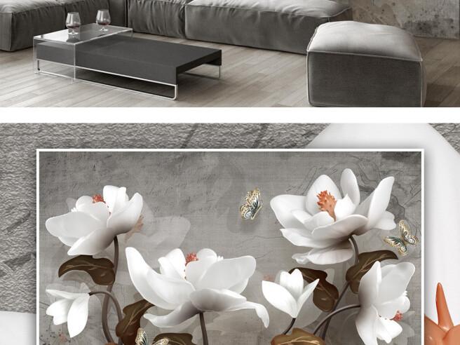 Цветущие белые цветы