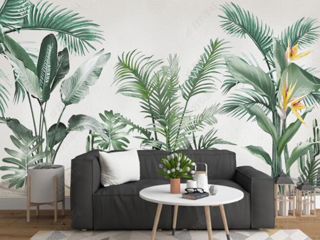 Фотообои Разные тропические растения