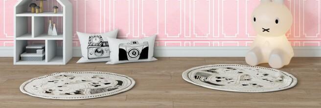 Фотообои Олени на розовом фоне