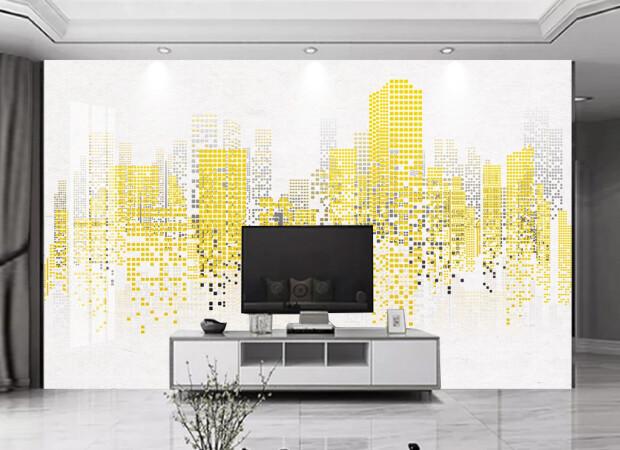 Город из пикселей