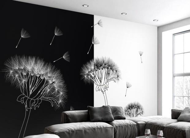 Черно-белые одуванчики