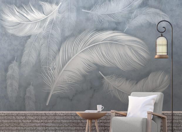 Серые перья