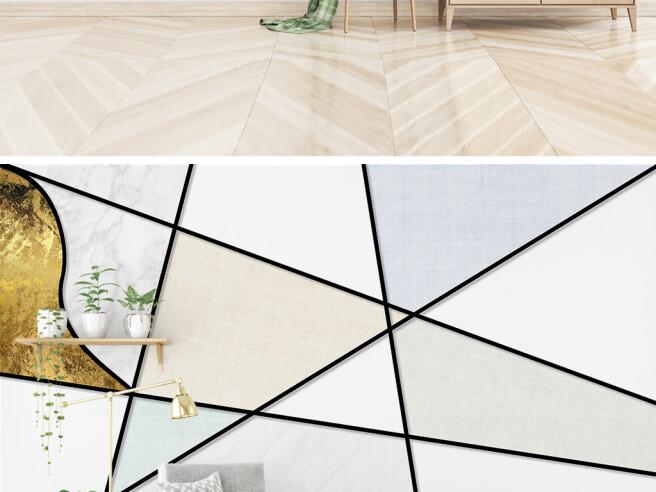 Фотообои Золотая геометрия