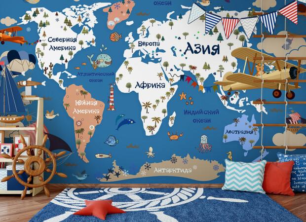 Карта для маленьких путешественников