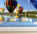 воздушные шары над озером