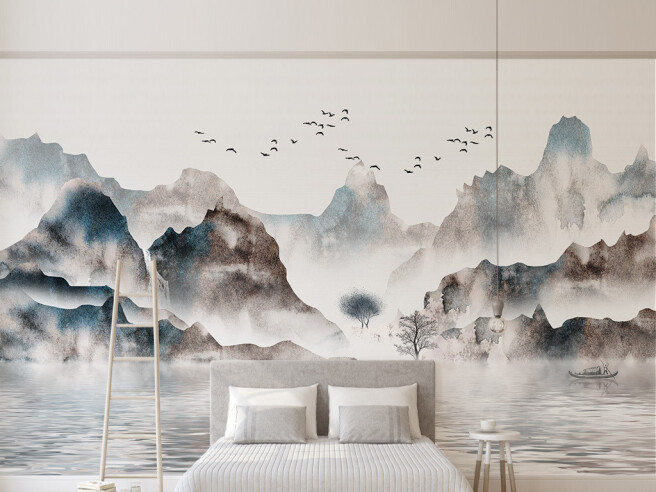 Фотообои Острова в тумане