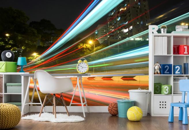 Фотообои свет в движении