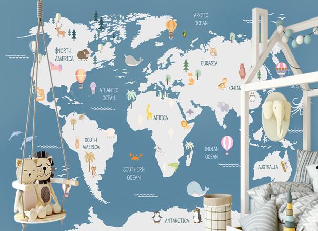 Карта и воздушные шары