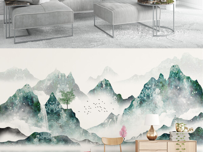 Фотообои Китайская лодка на озере