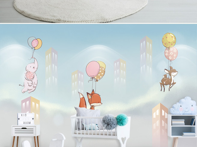 Летающие звери на шарах