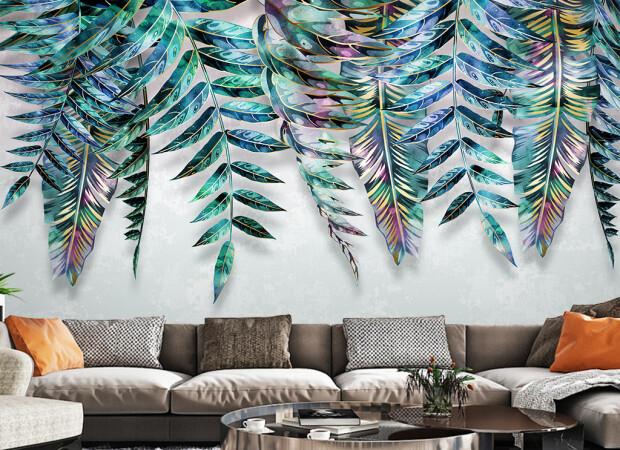 Яркие листья пальм