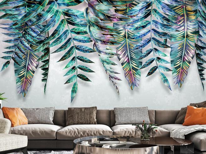 Фотообои Яркие листья пальм