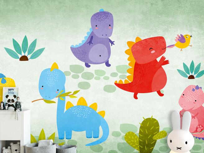 Фотообои Маленькие динозаврики