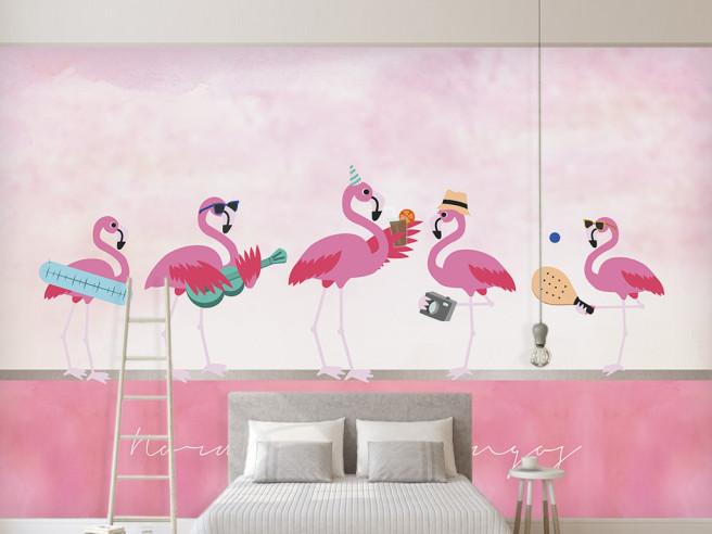 Фламинго на отдыхе