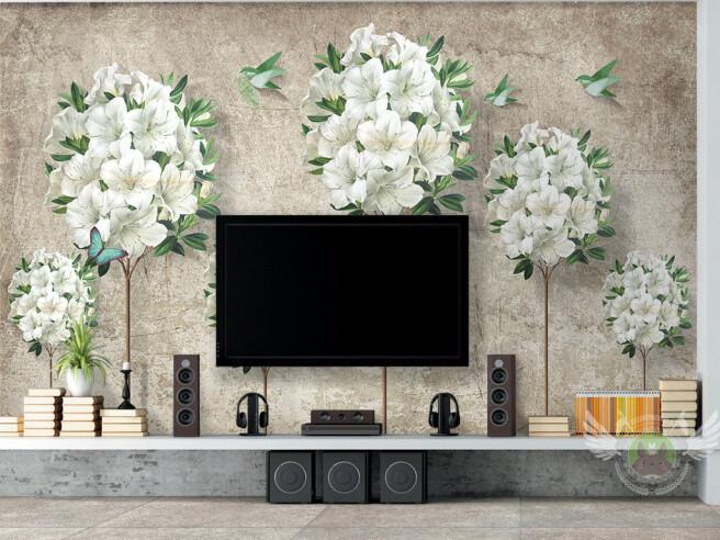 Фотообои Букеты белых цветов