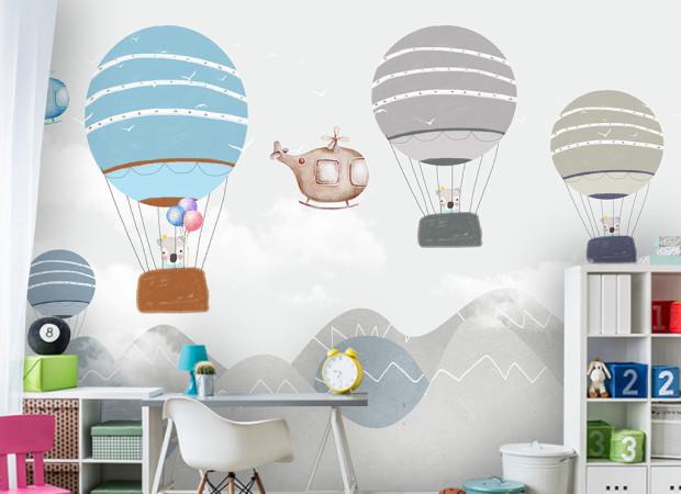 Панды на воздушных шарах