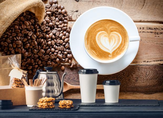 кофе с сердечком