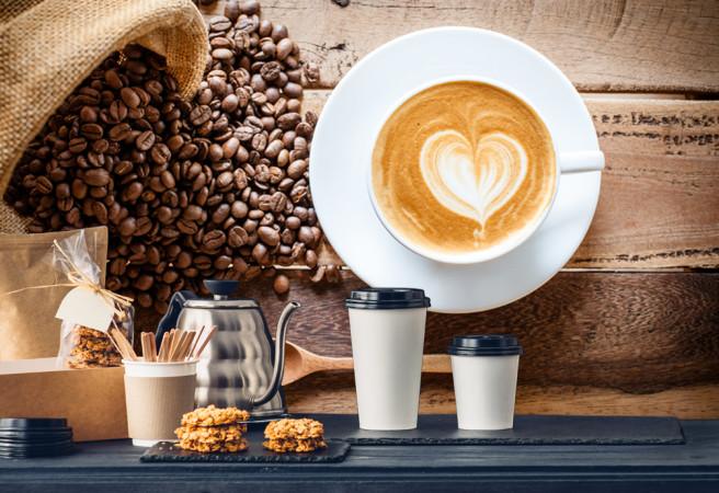 Фотообои кофе с сердечком