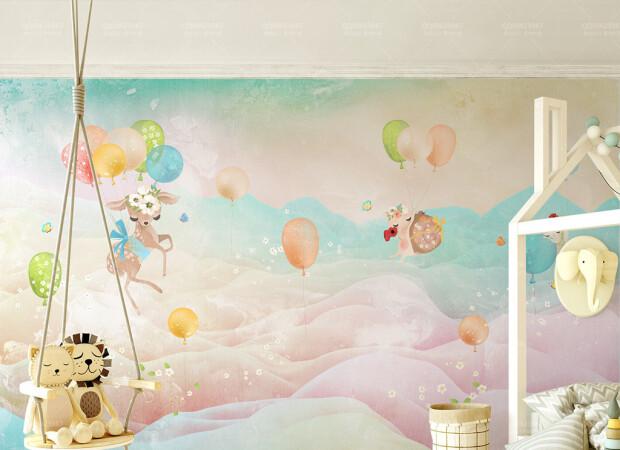 Олененок на воздушных шариках