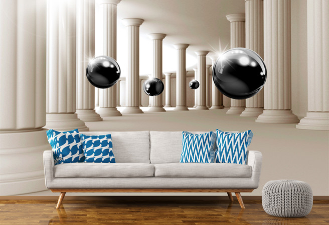 Фотообои шары и колонны