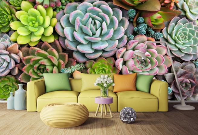 Фотообои объемные цветы