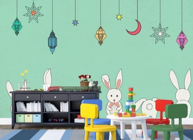 Кролики и новогодние игрушки