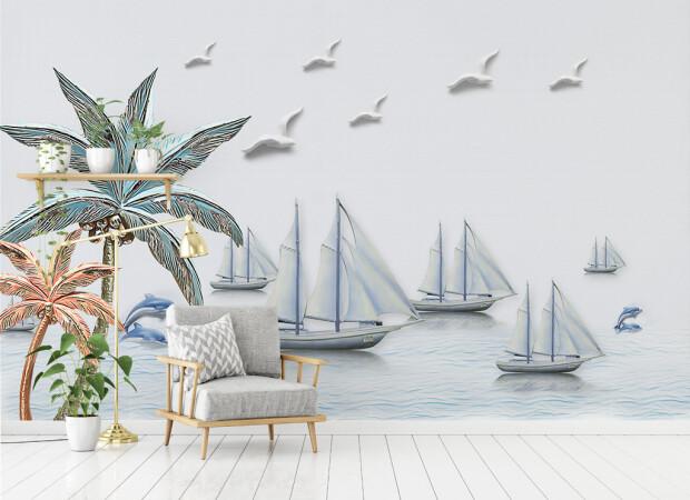 Чайки над яхтами