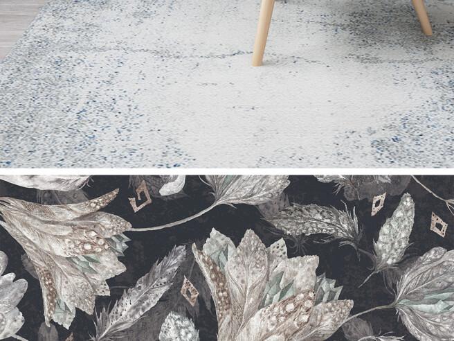 Фотообои Цветы из перьев